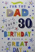 Dad 30th Birthday Card